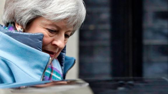 Britain's Prime Minister Theresa May leaves Downing Street after a cabinet meeting in London, Tuesday, Jan. 29, 2019. Britain's Parliament is set to vote on competing Brexit plans, with Prime Minister Theresa May desperately seeking a mandate from lawmakers to help secure concessions from the European Union.(AP Photo/Kirsty Wigglesworth)