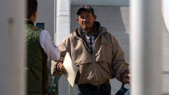 An asylum-seeker from Honduras returns to Mexico from the United States while his case is processed by US authorities.