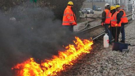 Why Chicago train tracks are being set on fire
