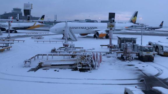 Manchester Airport has closed its runways due to heavy snow on Wednesday, January 30.