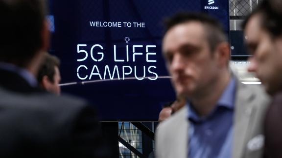 "A 5G-themed Ericsson campus in Belgium.  Last month, the company posted its first annual sales growth since 2013, crediting it to ""increased 5G demand"" among US operators."