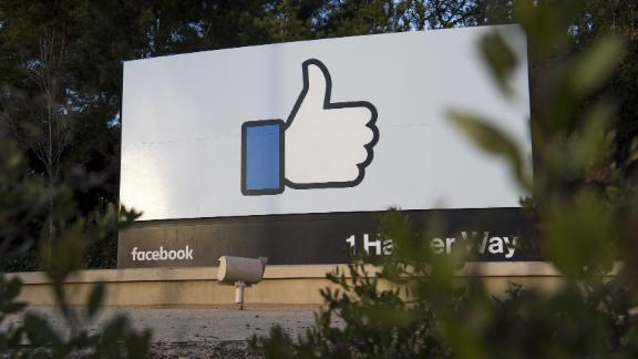 Signage is displayed outside Facebook Inc. headquarters in Menlo Park, California, U.S., on Monday, Jan. 30, 2017. Facebook Inc. is scheduled to release earnings figures on February 1. Photographer: David Paul Morris/Bloomberg via Getty Images