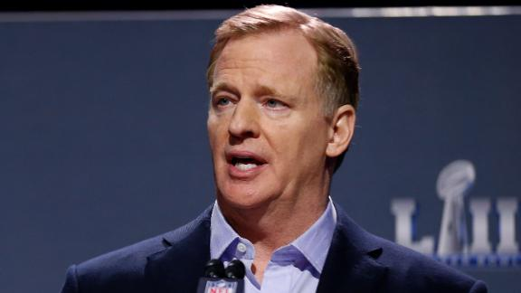 NFL Commissioner Roger Goodell speaks during a press conference during Super Bowl LIII Week on January 30, 2019 in Atlanta, Georgia.