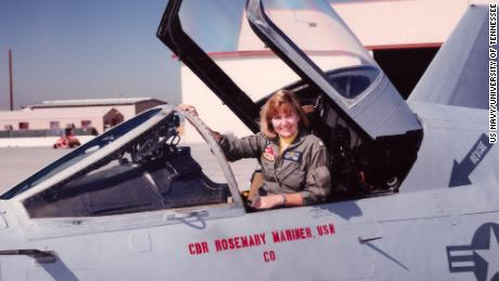 Rosemary Mariner in the 1990s, when she was commanding officer of a Naval squadron in California.