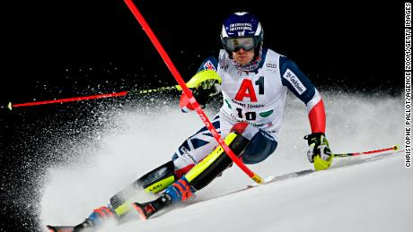 SCHLADMING, AUSTRIA - JANUARY 29: Dave Ryding of Great Britain in action during the Audi FIS Alpine Ski World Cup Men's Slalom on January 29, 2019 in Schladming Austria. (Photo by Christophe Pallot/Agence Zoom/Getty Images)