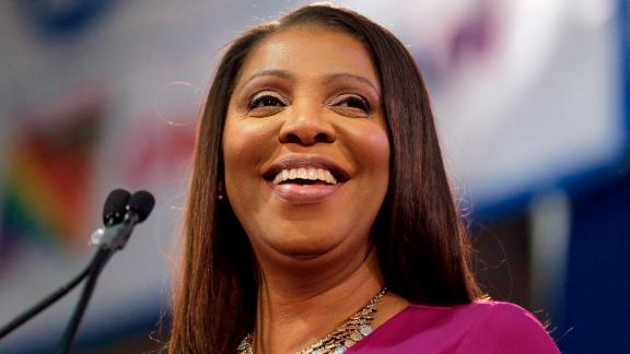 New York Attorney Letitia James during an inauguration ceremony in New York.