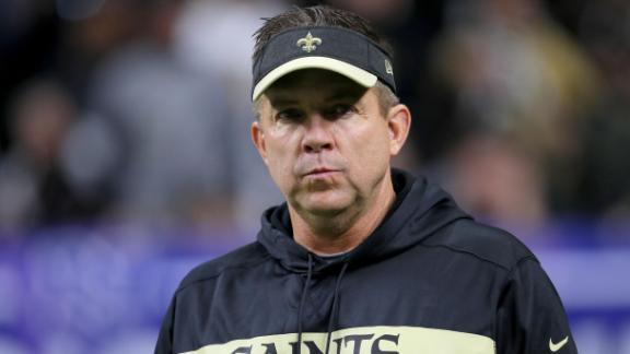 NEW ORLEANS, LOUISIANA - JANUARY 20: Head coach Sean Payton of the New Orleans Saints looks on prior to the NFC Championship game at the Mercedes-Benz Superdome on January 20, 2019 in New Orleans, Louisiana. (Photo by Sean Gardner/Getty Images)
