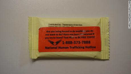 """The S.O.A.P - """"Save Our Adolescents from Prostitution"""" - Project, and a nine-year-old non-profit that aims to raise awareness about trafficking has passed out bars of soap with the national hotline number hotline on them in Atlanta this week."""
