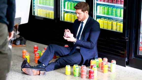 Michael Bublé appears in a Pepsi Bubly commercial.