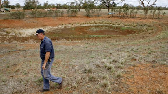 Wayne Dunford on his 1600 hectare property during a previous drought in 2010.