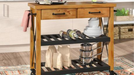 Shop these kitchen carts to expand the countertop space in ...