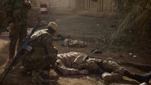 ISIS soldier killed on the battle field near the town of Marashida on January 22.