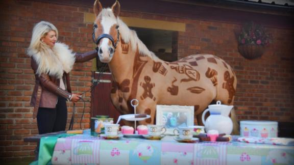 The design graduate insists welfare is at the center of her work. She assures that horses have been clipped for more than 100 years and that her subjects are not harmed by her art.