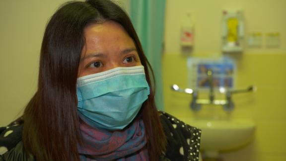 KC, a cancer patient at Queen Mary hospital, Hong Kong