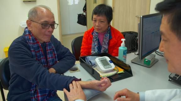 Cheung Yiu-Kai, a patient at Hong Kong's School of Chinese Medicine