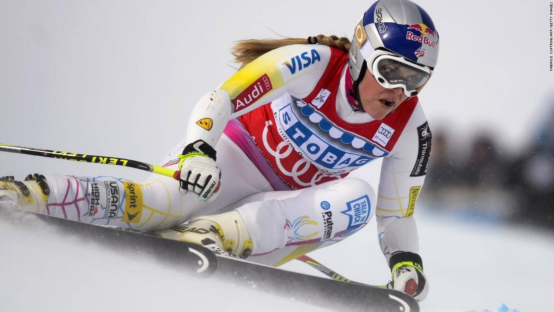 Lindsey Vonn clears a gate on her way to winning a World Cup race in December 2012.