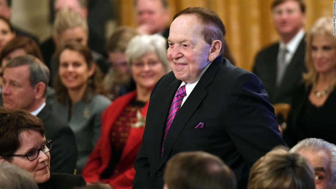 Adelsons provide $75 million cash infusion to Trump
