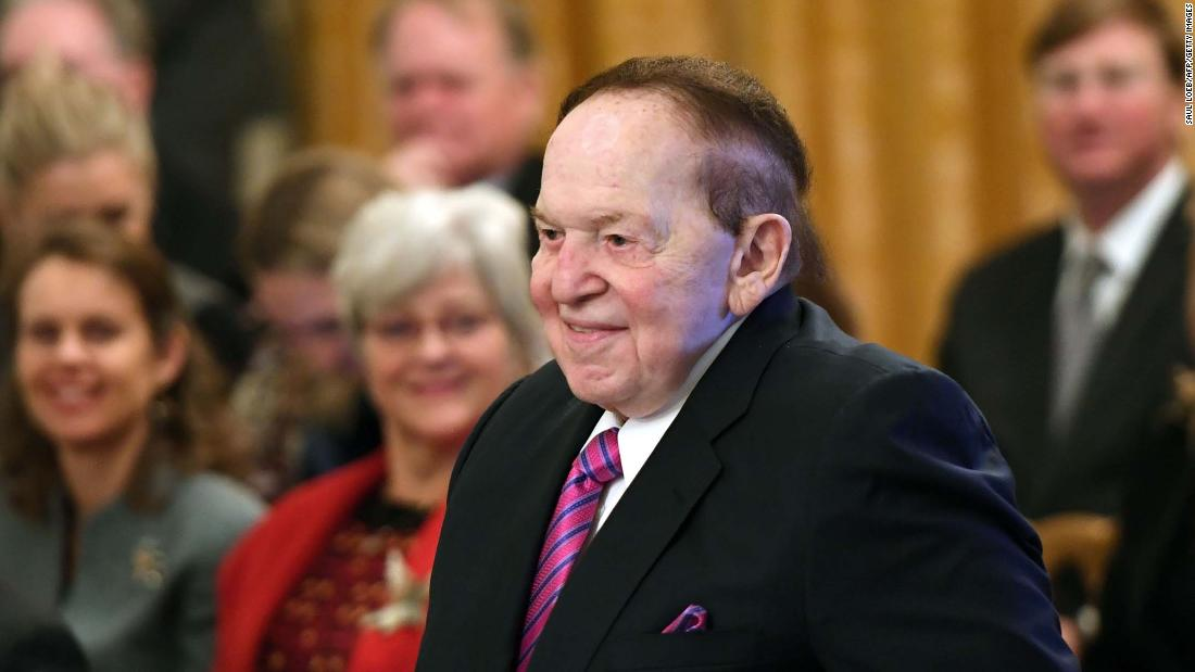 Adelsons provide $75 million cash infusion to Trump's reelection effort