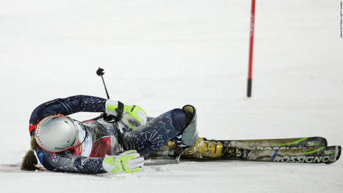 Vonn fell while practicing for the 2006 Winter Olympics in Turin, Italy, and she had to go to the hospital. She recovered in time to compete but could only manage seventh in the Super G and eighth in the downhill.