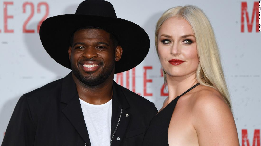 Vonn and her boyfriend, hockey star P.K. Subban, attend a film premiere in Westwood, California, in August 2018.
