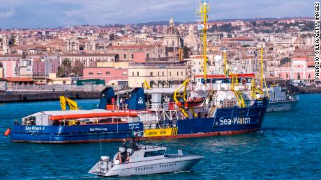 Sea-Watch 3 rescue vessel was allowed to disembark 47 migrants in Catania, Italy, on Thursday after a political impasse left them stranded off the coast of Sicily for nearly two weeks.