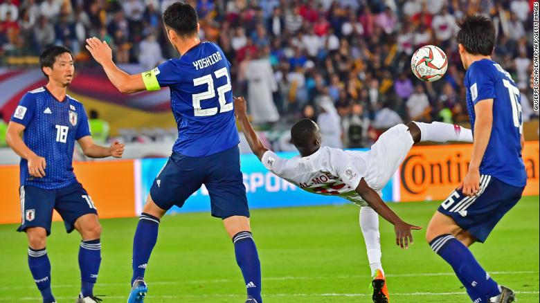Almoez Ali's spectacular overhead kick gave Qatar the lead.