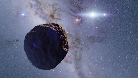 This 1.3-kilometer (0.8-mile)-radius Kuiper Belt Object discovered by researchers on the edge of the solar system is believed to be the step between balls of dust and ice and fully formed planets.