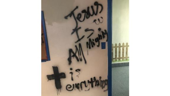 Police arrested a 17-year-old for allegedly vandalizing a Hindu temple.