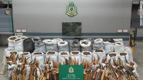 Hong Kong Customs released this image showing the seized goods.