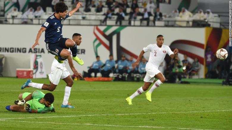 Japan's forward Takumi Minamino scored in the second half.