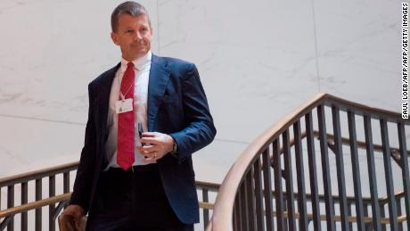 Erik Prince is seen on Capitol Hill in Washington on November 30, 2017.