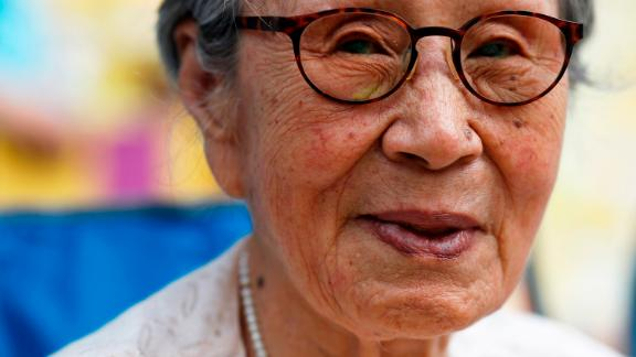 """Kim Bok-dong seen in 2016. The longtime activist for so-called """"comfort women"""" died last month."""