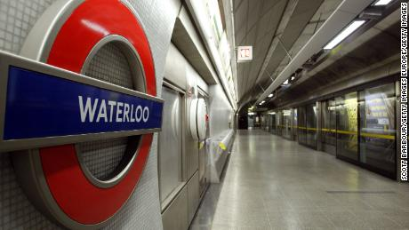 Waterloo Station in London, to which the three men were traveling.