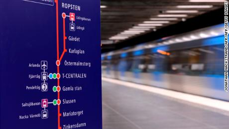 The incident occurred on a metro train in the Swedish capital, Stockholm.