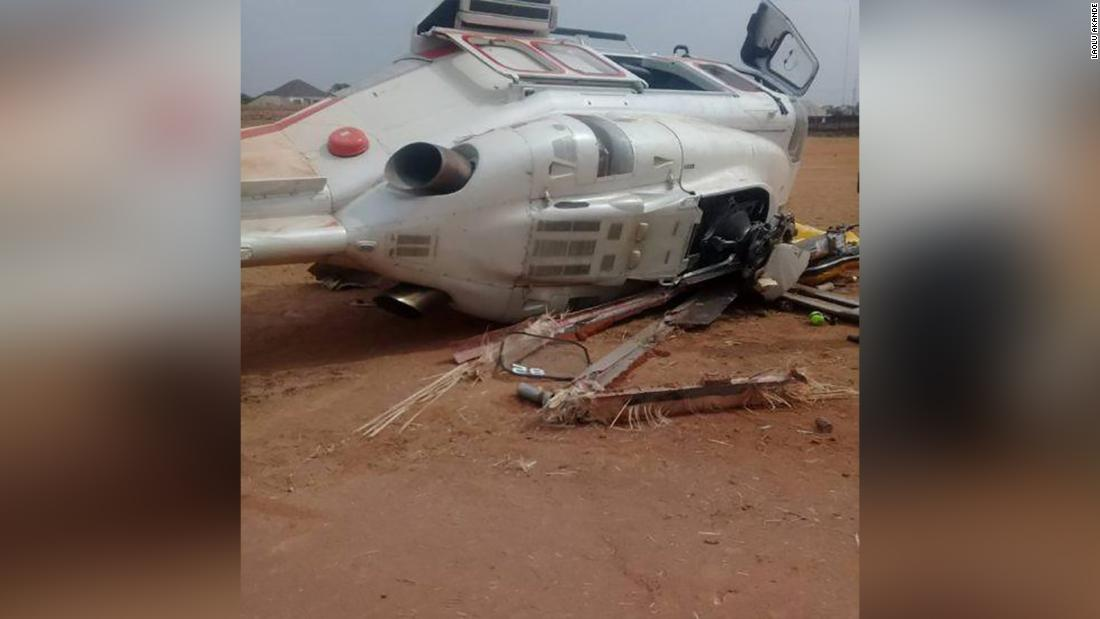 Nigeria's Vice President 'safe and sound' after helicopter crash on campaign trail