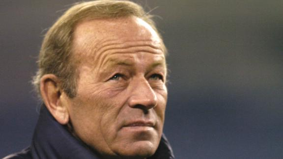 Denver Broncos owner Pat Bowlen watches warm-ups during a game in 2004.