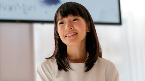 Marie Kondo speaks at a media event in New York, Wednesday, July 11, 2018.