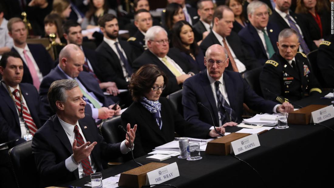 Die Beamten bitten den Kongress, nicht zu halten Bedrohungen Anhörungen nach angering Trump letzten Jahr