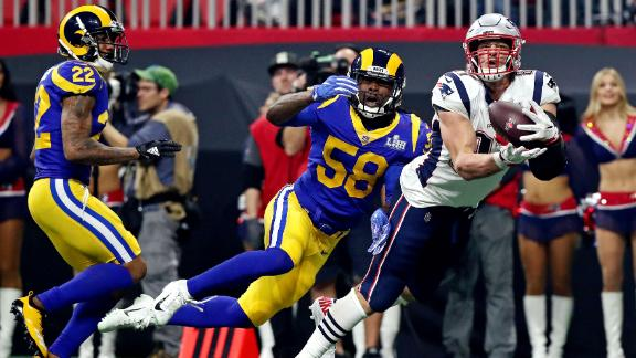 The Michel touchdown was preceded by a 29-yard pass to tight end Rob Gronkowski.