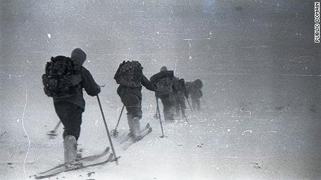 Some members of the Dyatlov group during the expedition.