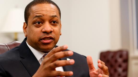 Virginia Lt. Gov. Justin Fairfax speaks during an interview in his office at the Capitol in Richmond, Va., on Saturday, Feb. 2, 2019. (AP/Steve Helber)