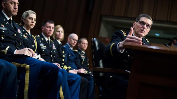 UNITED STATES - FEBRUARY 05: Army Gen. Joseph L. Votel, head of U.S. Central Command, testifies during a Senate Armed Services Committee hearing in Hart Building on the U.S. Central Command on Tuesday, February 5, 2019.  (Photo By Tom Williams/CQ Roll Call)