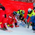 Lindsey Vonn crash world championships Sweden 2