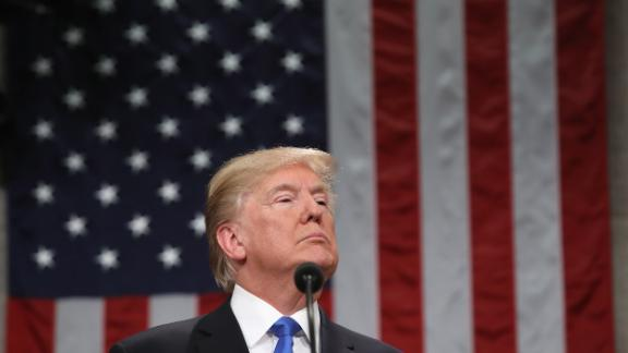 WASHINGTON, DC - JANUARY 30:  U.S. President Donald J. Trump delivers the State of the Union address in the chamber of the U.S. House of Representatives January 30, 2018 in Washington, DC. This is the first State of the Union address given by U.S. President Donald Trump and his second joint-session address to Congress.  (Photo by Win McNamee/Getty Images)