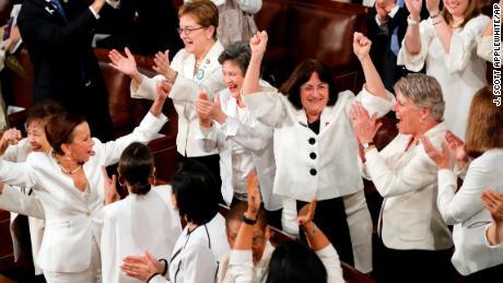 Trump gives the women of Congress a shoutout