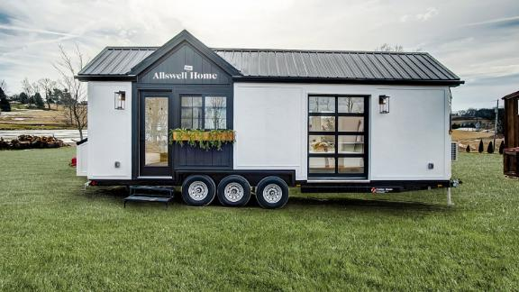 Walmart's online mattress brand Allswell is opening a 'tiny home' showroom.