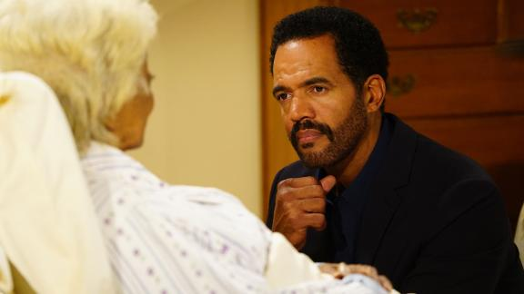 LOS ANGELES - JULY 20: Nichelle Nichols( Lucinda) and Kristoff St. John (Neil Winters) on the 11,000th episode of the CBS series THE YOUNG AND THE RESTLESS airing on September 1, 2016.  THE YOUNG AND THE RESTLESS Airs Weekdays (12:30-1:30 PM, ET; 11:30 AM-12:30 PM, PT) on the CBS Television Network.   (Photo by Sonja Flemming/CBS via Getty Images)