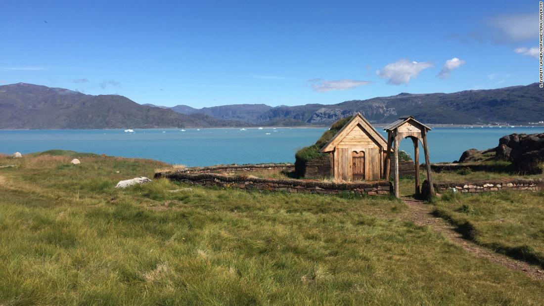 Researchers recently studied climate change in Greenland as it happened during the time of the Vikings. By using lake sediment cores, they discovered it was actually warmer than previously believed. They studied at several sites, including a 21st-century reproduction of Thjodhild's church on Erik the Red's estate, known as Brattahlíð, in present day Qassiarsuk, Greenland.