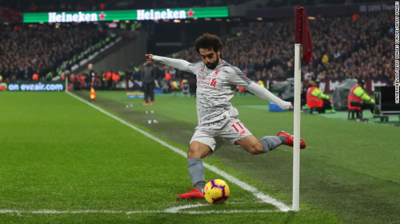 Mohamed Salah is Liverpool's top scorer this season.