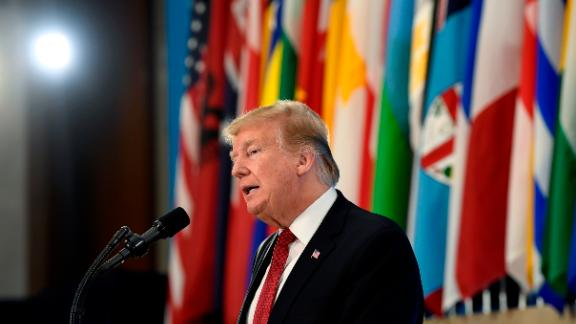 President Donald Trump speaks at the Global Coalition to Defeat ISIS meeting at the State Department in Washington, Wednesday, Feb. 6, 2019. (AP Photo/Susan Walsh)